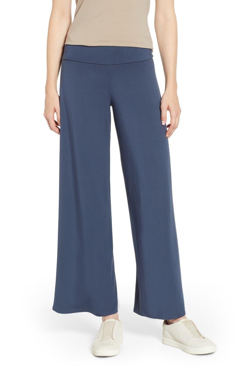 NIC+ZOE Ease Pants, Main, color, INDIGO SEA