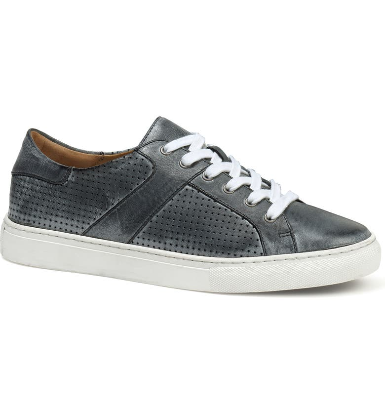 TRASK Lindsey Sneaker, Main, color, PEWTER LEATHER