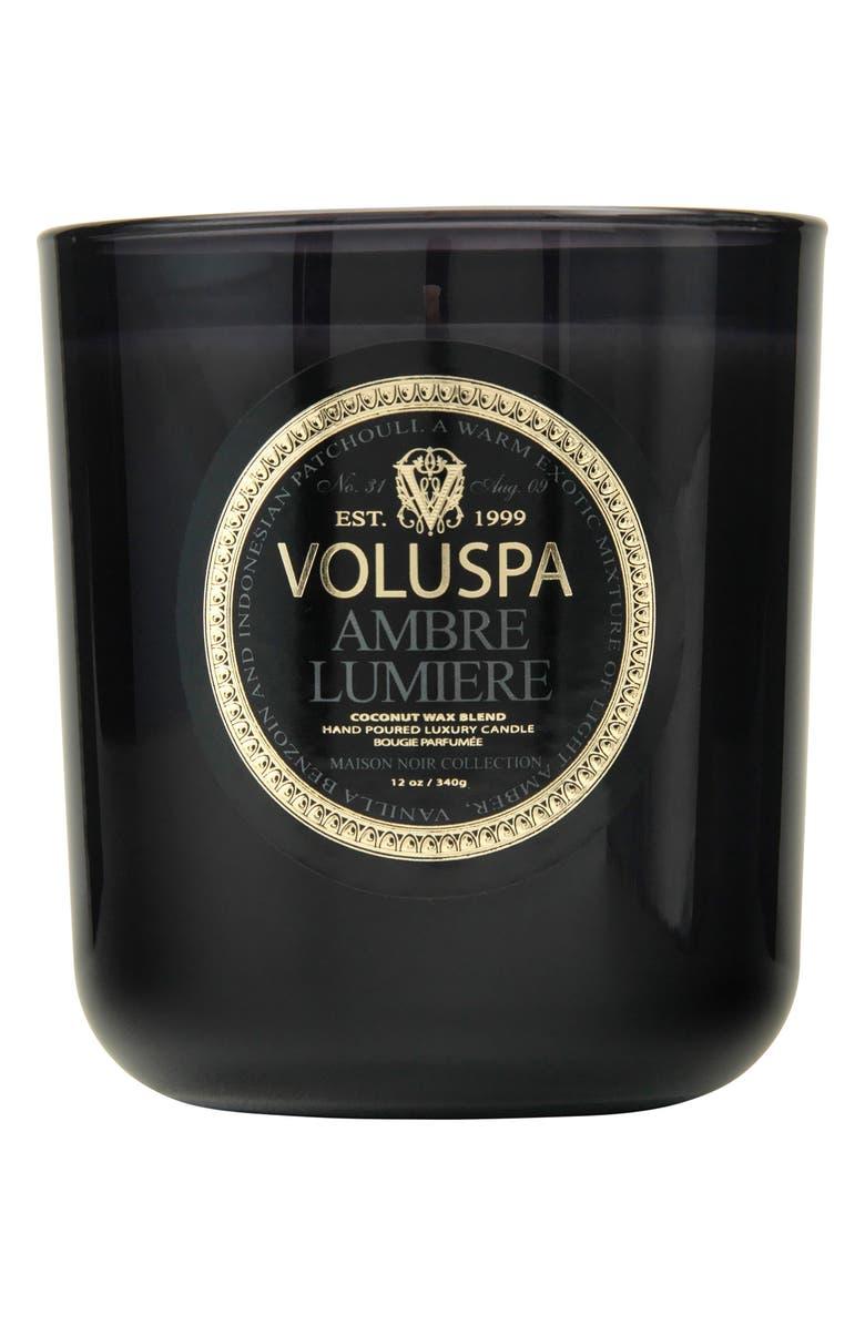 VOLUSPA Maison Noir Ambre Lumiere Classic Maison Candle, Main, color, NO COLOR