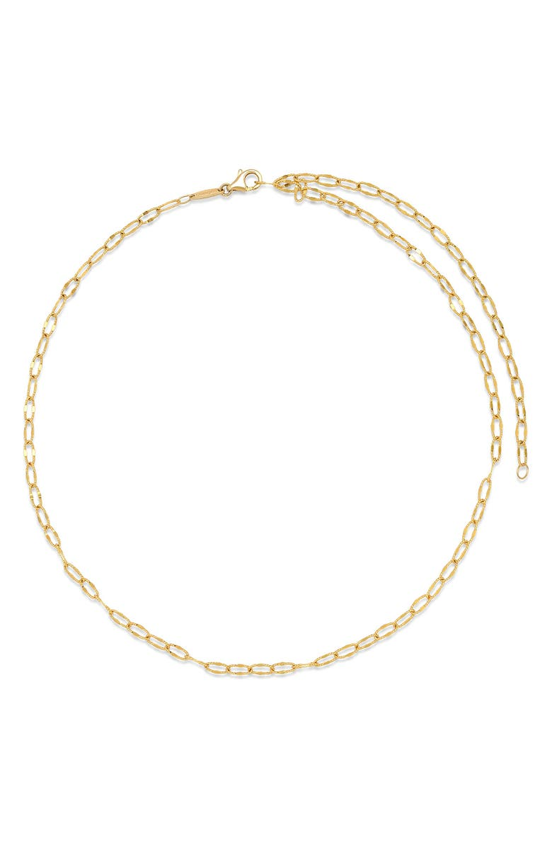 CONGÉS Diamond-Cut Link Necklace, Main, color, YELLOW GOLD