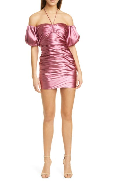 Cinq À Sept TATI METALLIC OFF THE SHOULDER MINIDRESS