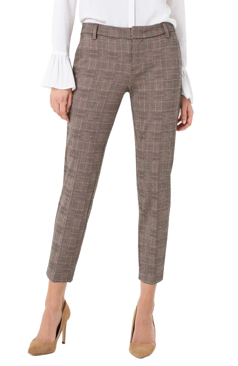 LIVERPOOL Kelsey Knit Trousers, Main, color, BROWN/ BLACK