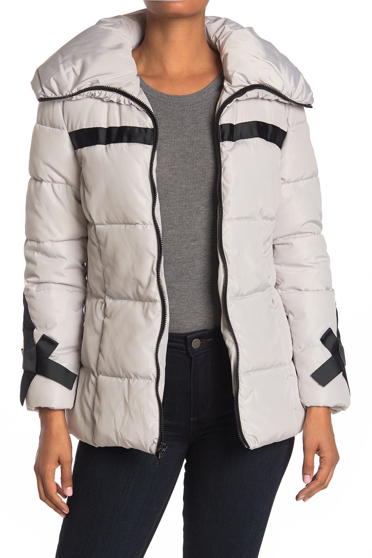 Karl Lagerfeld Paris Zip Puffer Jacket