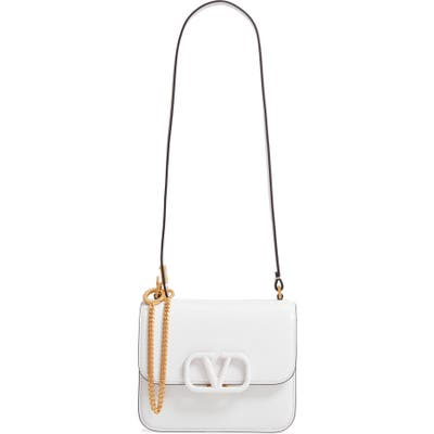 Valentino Garavani Small Vsling Shoulder Bag - White