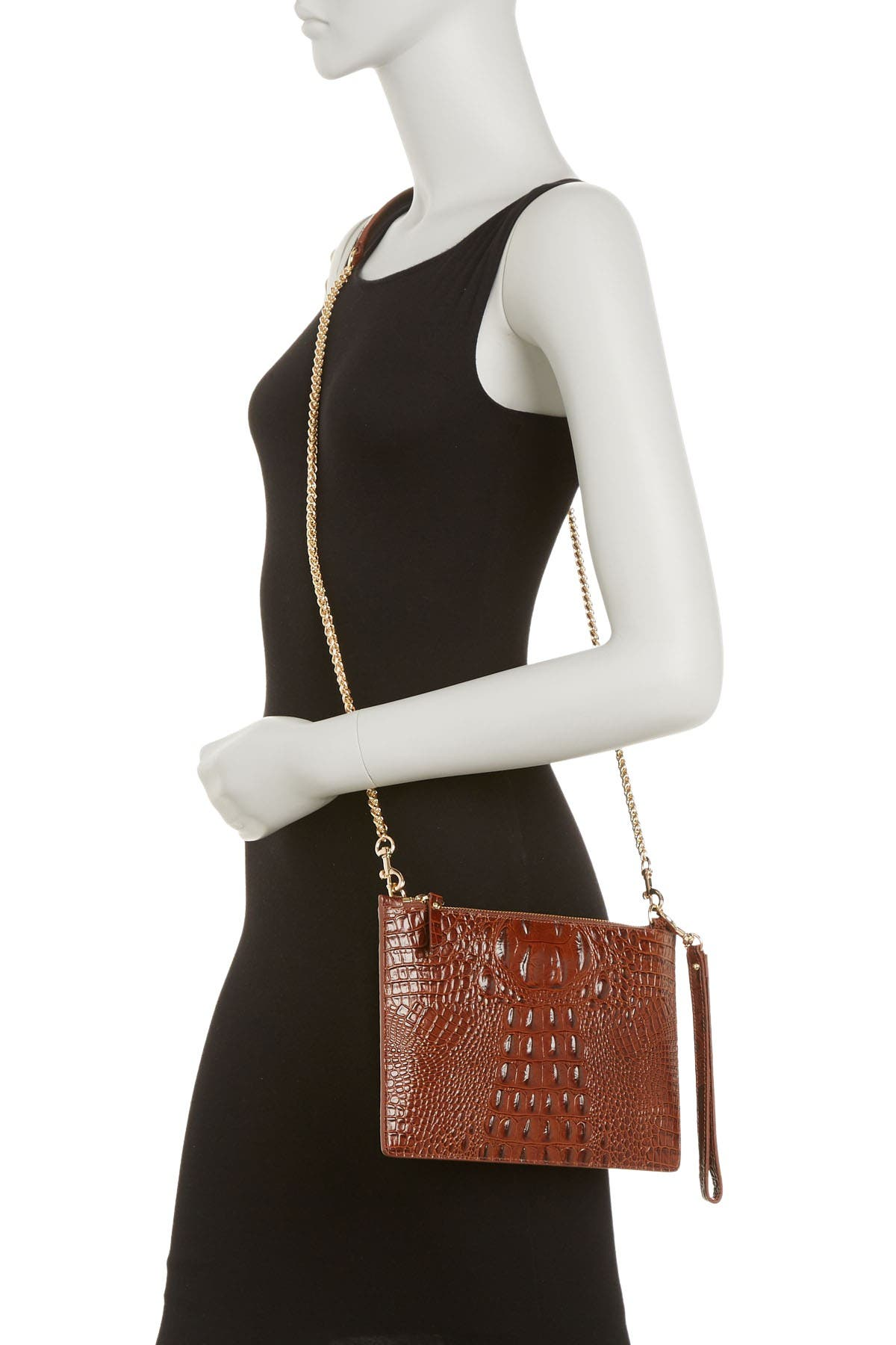 Image of Vicenzo Leather Hope Croc Embossed Crossbody
