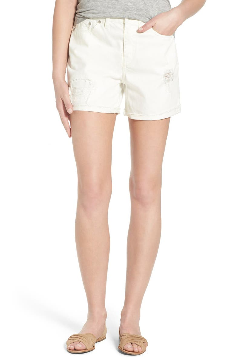 MADEWELL High Rise Shorts, Main, color, 100