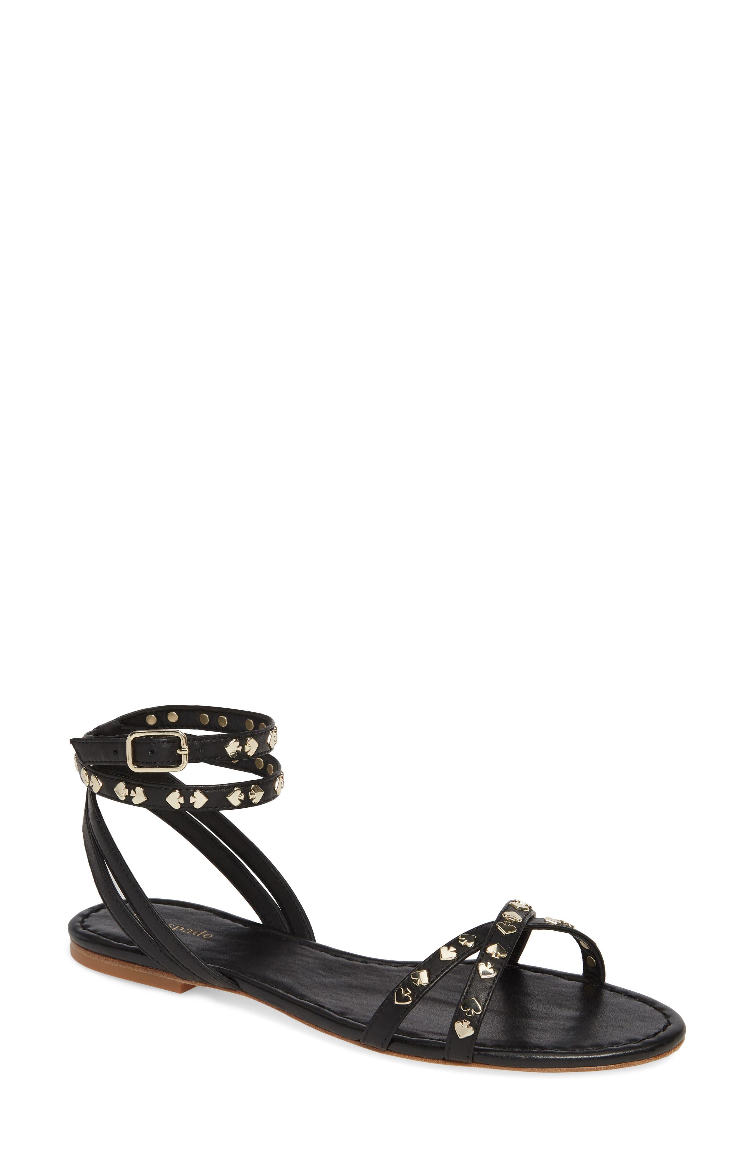 liz ankle wrap sandal, Main, color, 003