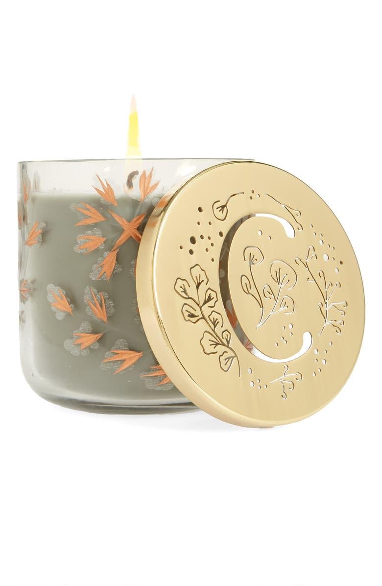 ANTHROPOLOGIE HOME Lumi Monogram Scented Candle, Main, color, C