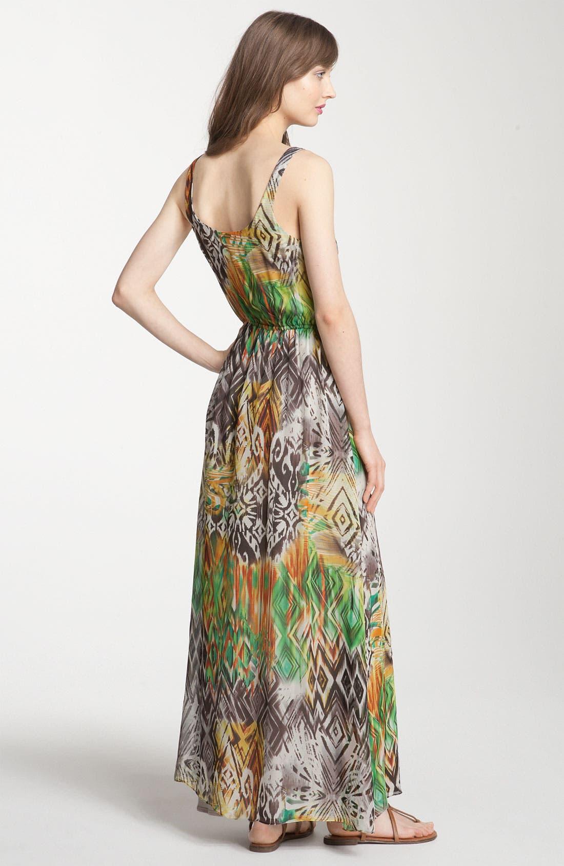 ,                             Print Maxi Dress,                             Alternate thumbnail 3, color,                             353