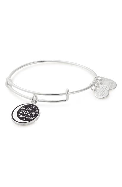 Alex And Ani STELLAR LOVE CHARM EXPANDABLE WIRE BANGLE