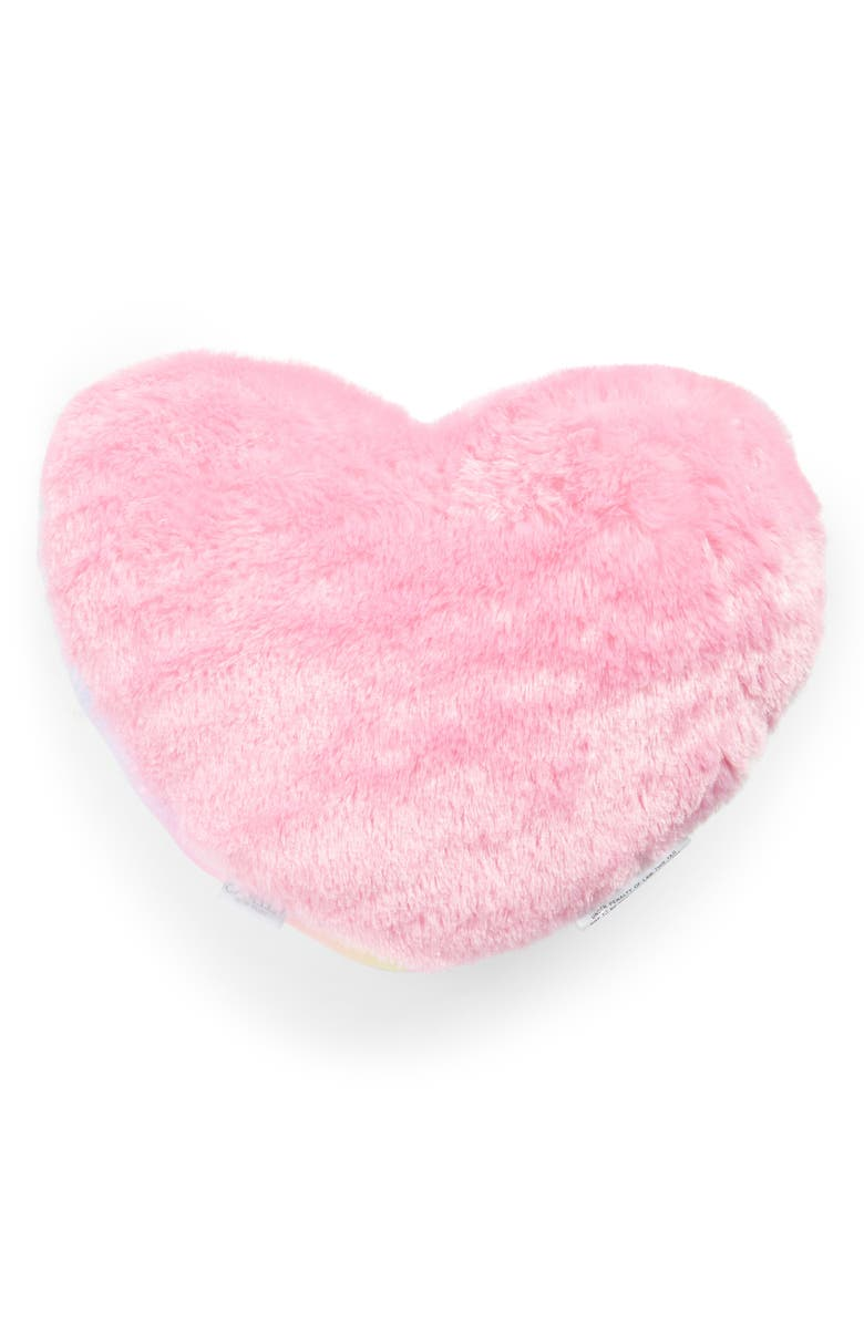 CAPELLI NEW YORK Heart Accent Pillow, Main, color, PINK COMBO