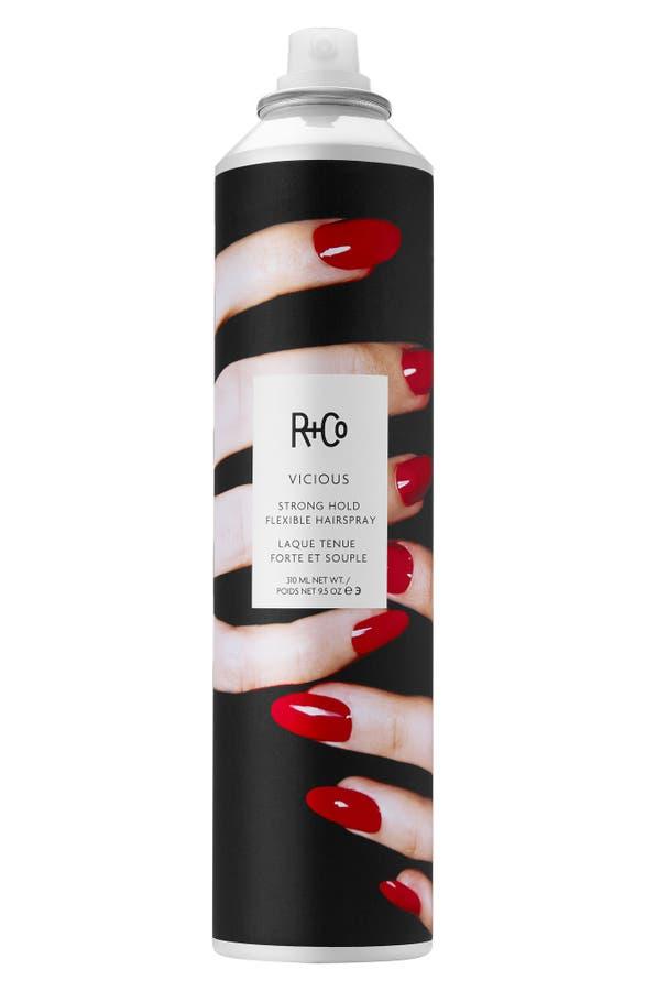 R + Co VICIOUS STRONG HOLD FLEXIBLE HAIRSPRAY, 9.5 oz