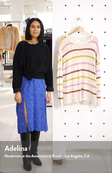 Slubbed Cotton Blend Sweater, sales video thumbnail