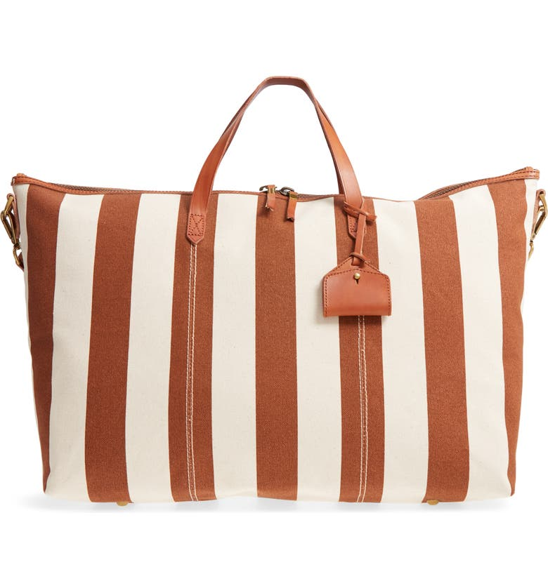 MADEWELL Transport Canvas Weekend Bag, Main, color, 800