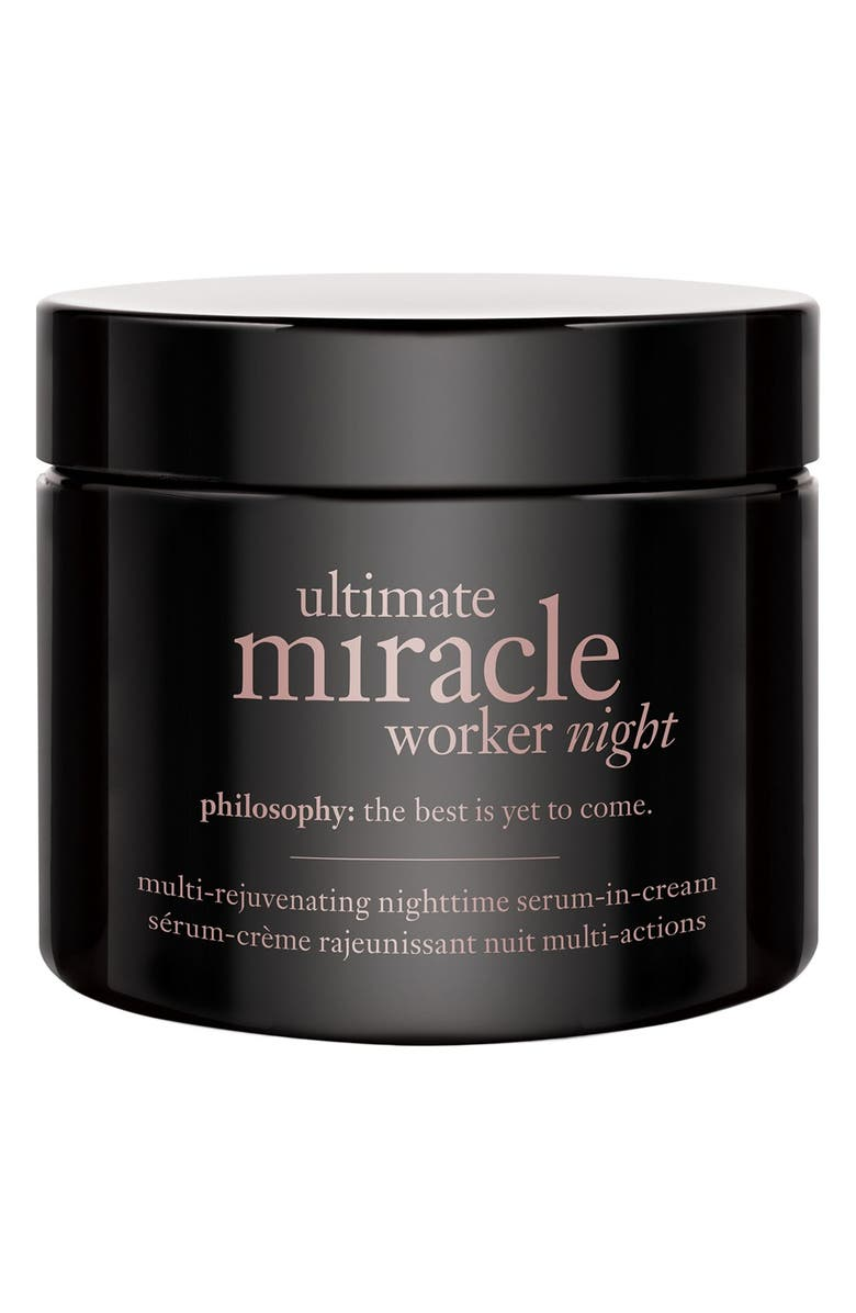 PHILOSOPHY ultimate miracle worker night multi-rejuvenating nighttime serum-in-cream, Main, color, NO COLOR