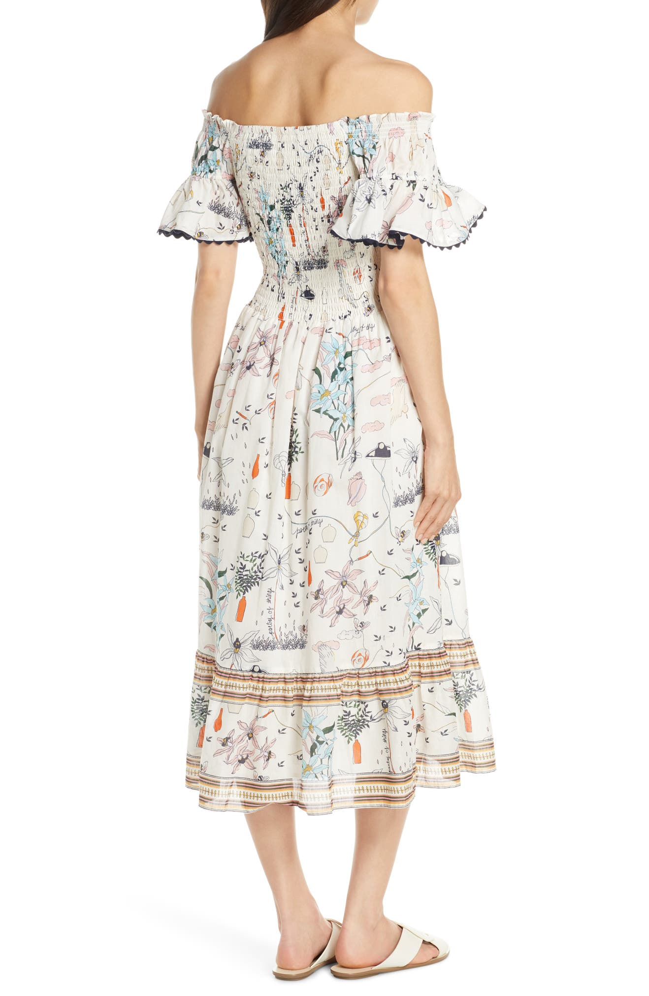 6b55decc98 Tory Burch Meadow Folly Off the Shoulder Cover-Up Dress | Nordstrom