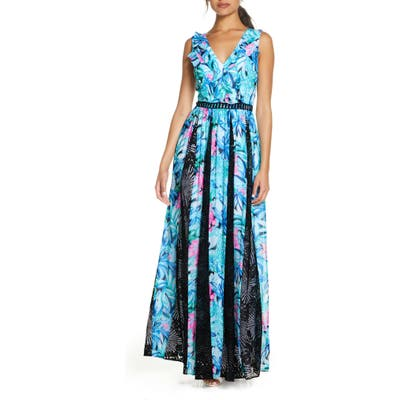 Lilly Pulitzer Janette Fit & Flare Maxi Dress, Green