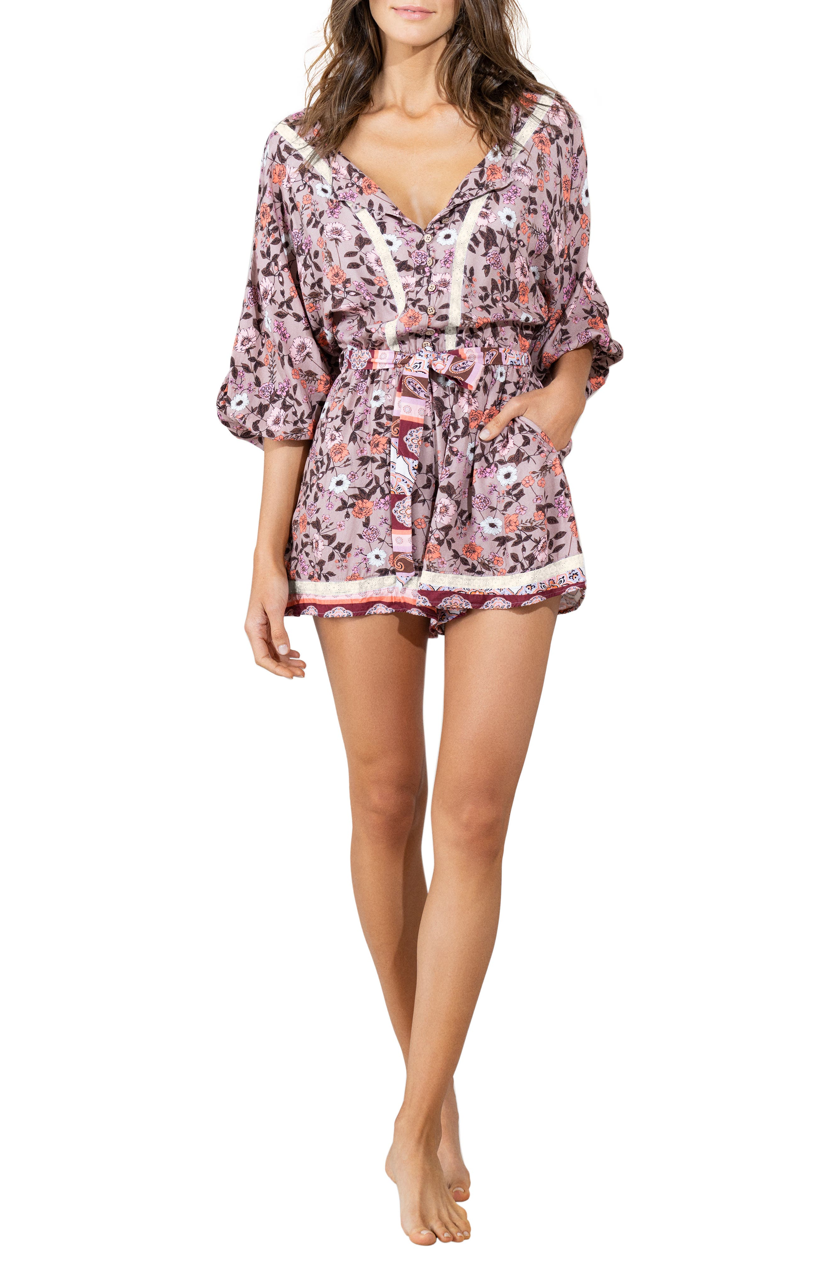 Claire Ditsy Cover-Up Romper