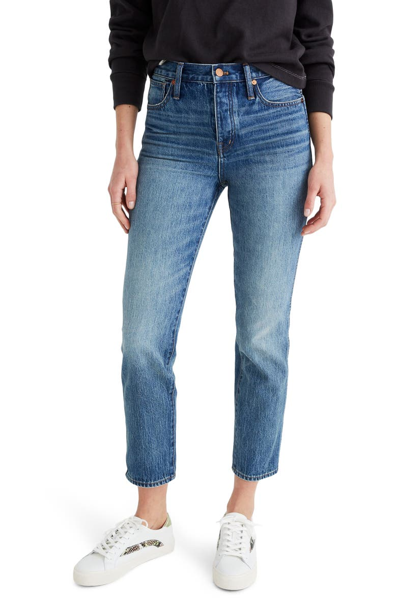 MADEWELL Rigid Stovepipe Jeans, Main, color, 400