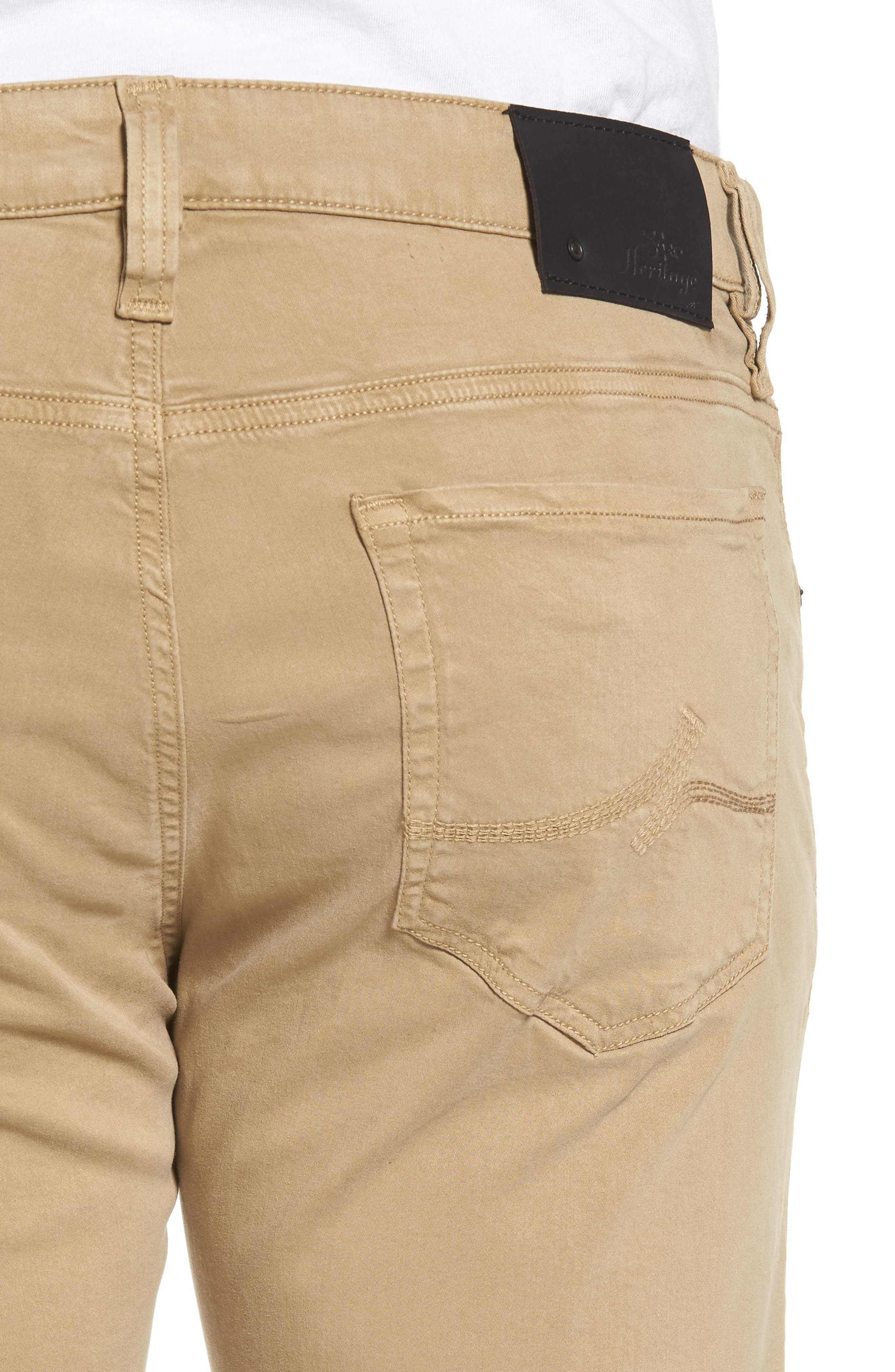 ,                             Courage Straight Leg Twill Pants,                             Alternate thumbnail 4, color,                             KHAKI TWILL