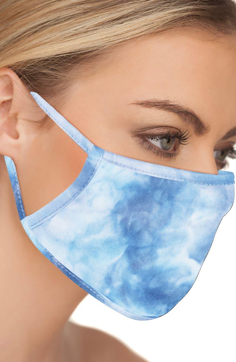 LOVE CHANGES 5-Pack Adult Tie Dye Face Masks, Main, color, BLACK/PINK/BLUE/GREEN/WHITE