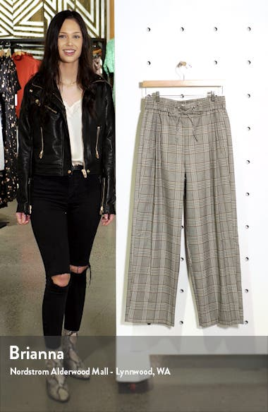Anna Check Wide Leg Jogger Pants, sales video thumbnail