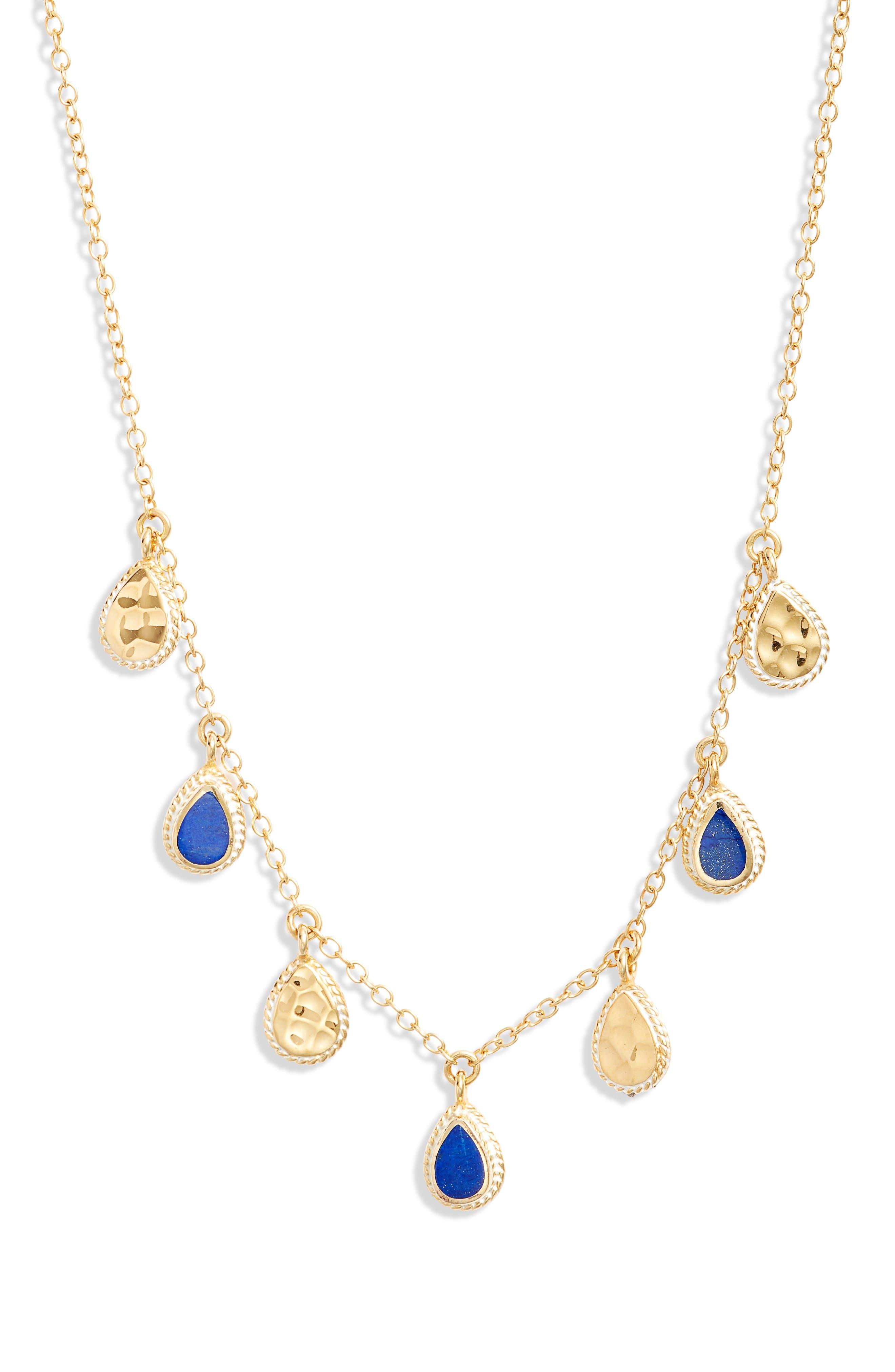 Lapis Lazuli Hammered Collar Necklace (Nordstrom Exclusive)