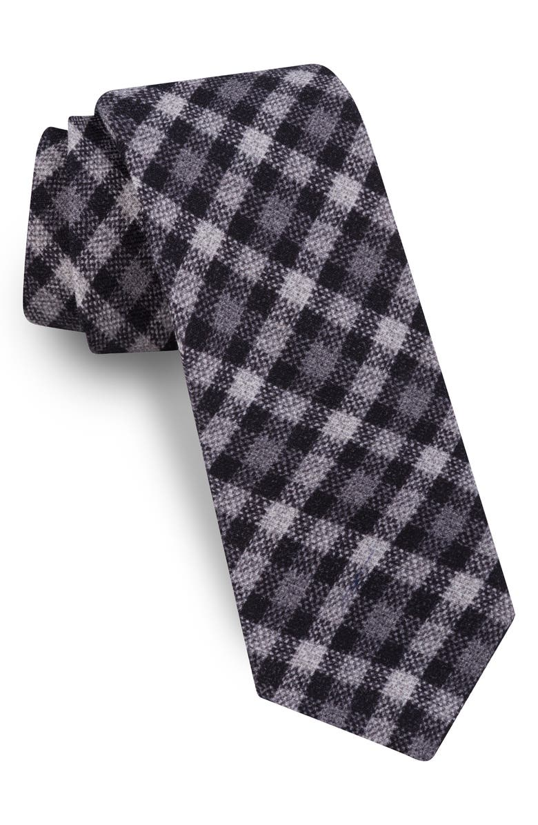 TED BAKER LONDON Plaid Wool Tie, Main, color, 001