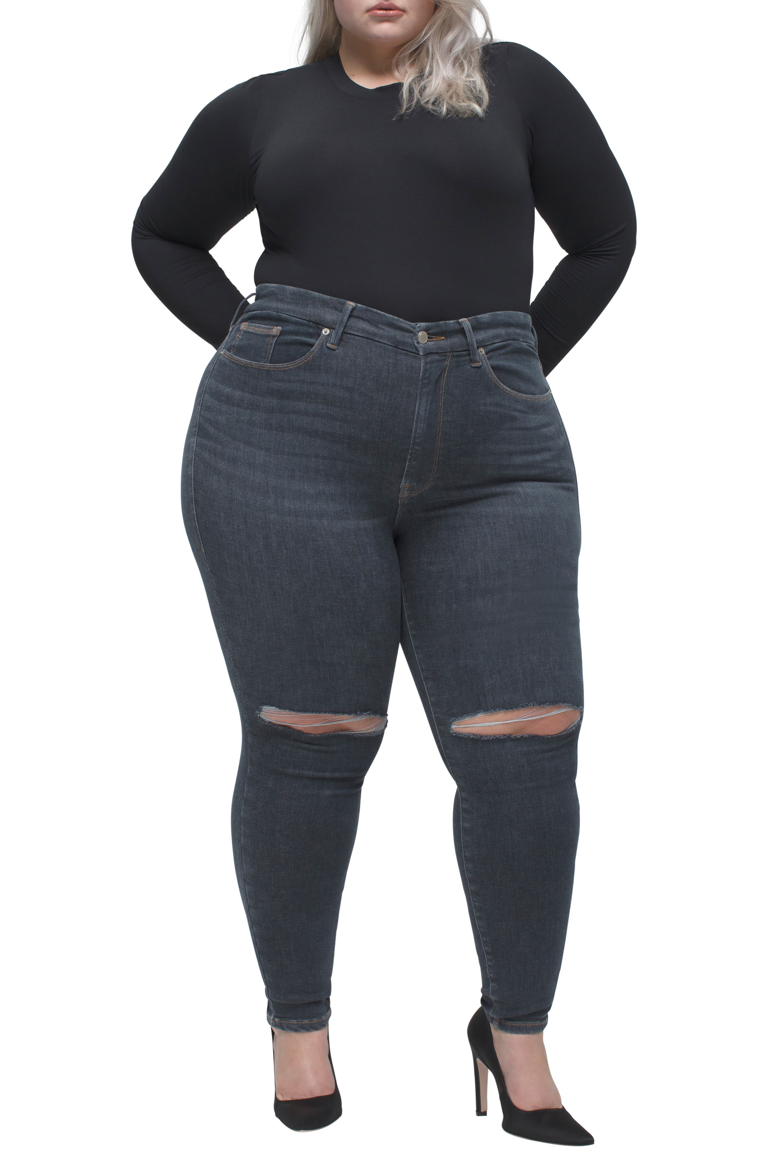 Women's Good American Always Fits Skinny Jeans