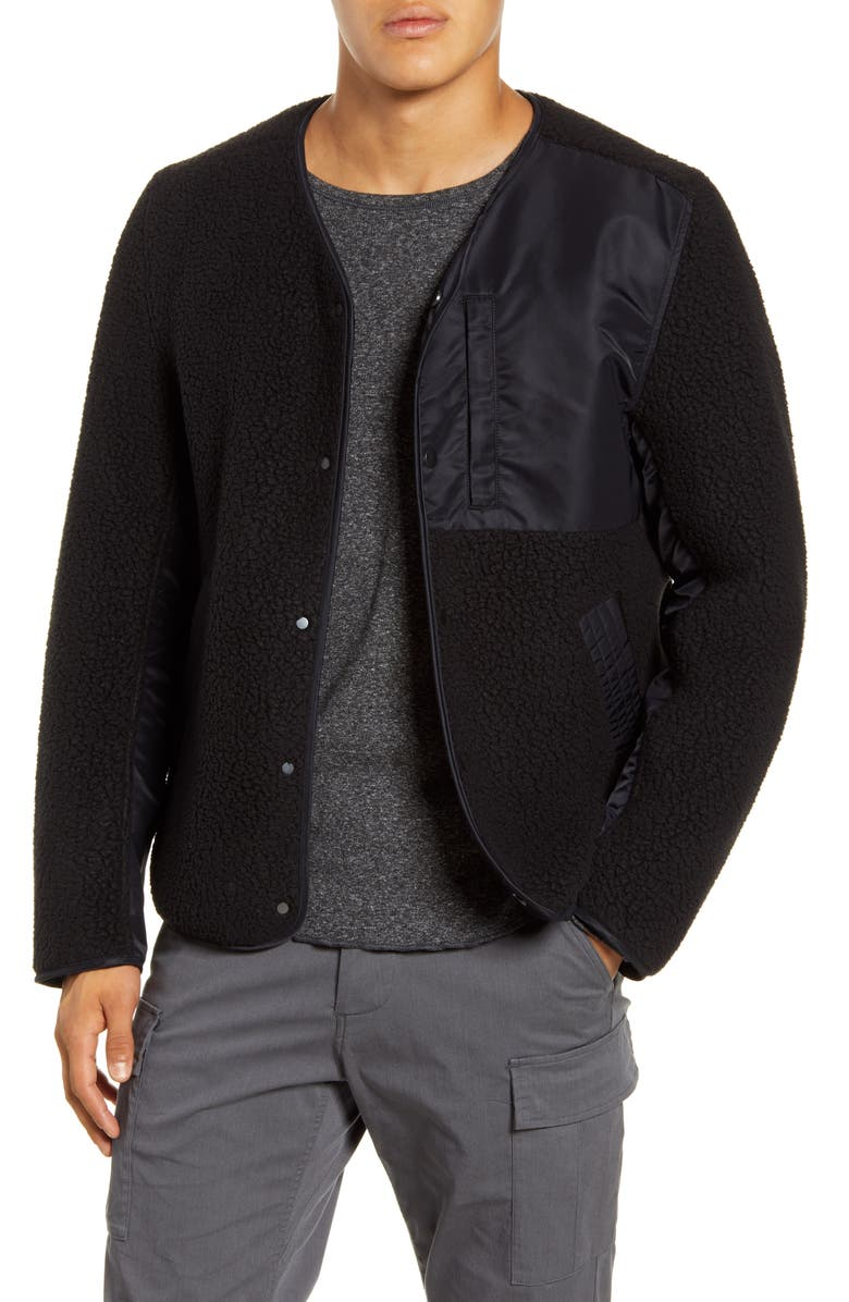 WINGS + HORNS Reversible Liner Faux Shearling Jacket, Main, color, 001