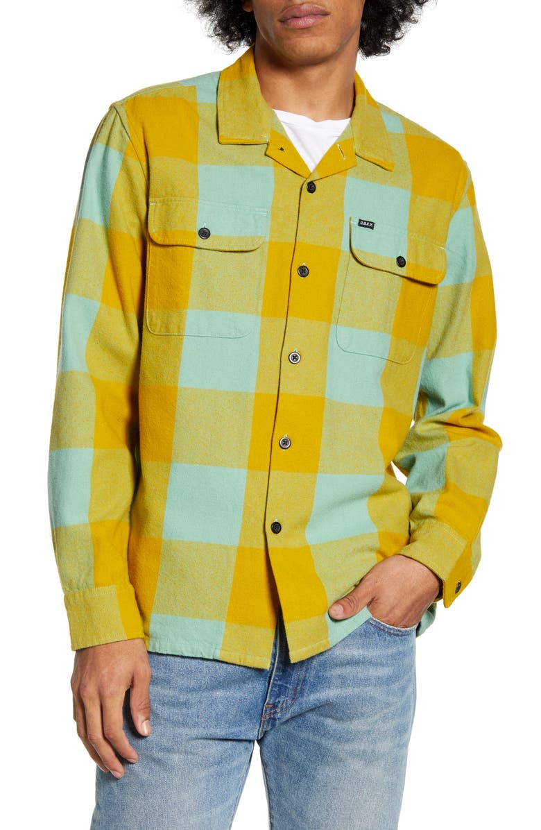 OBEY Regular Fit Button-Up Flannel Shirt, Main, color, 315