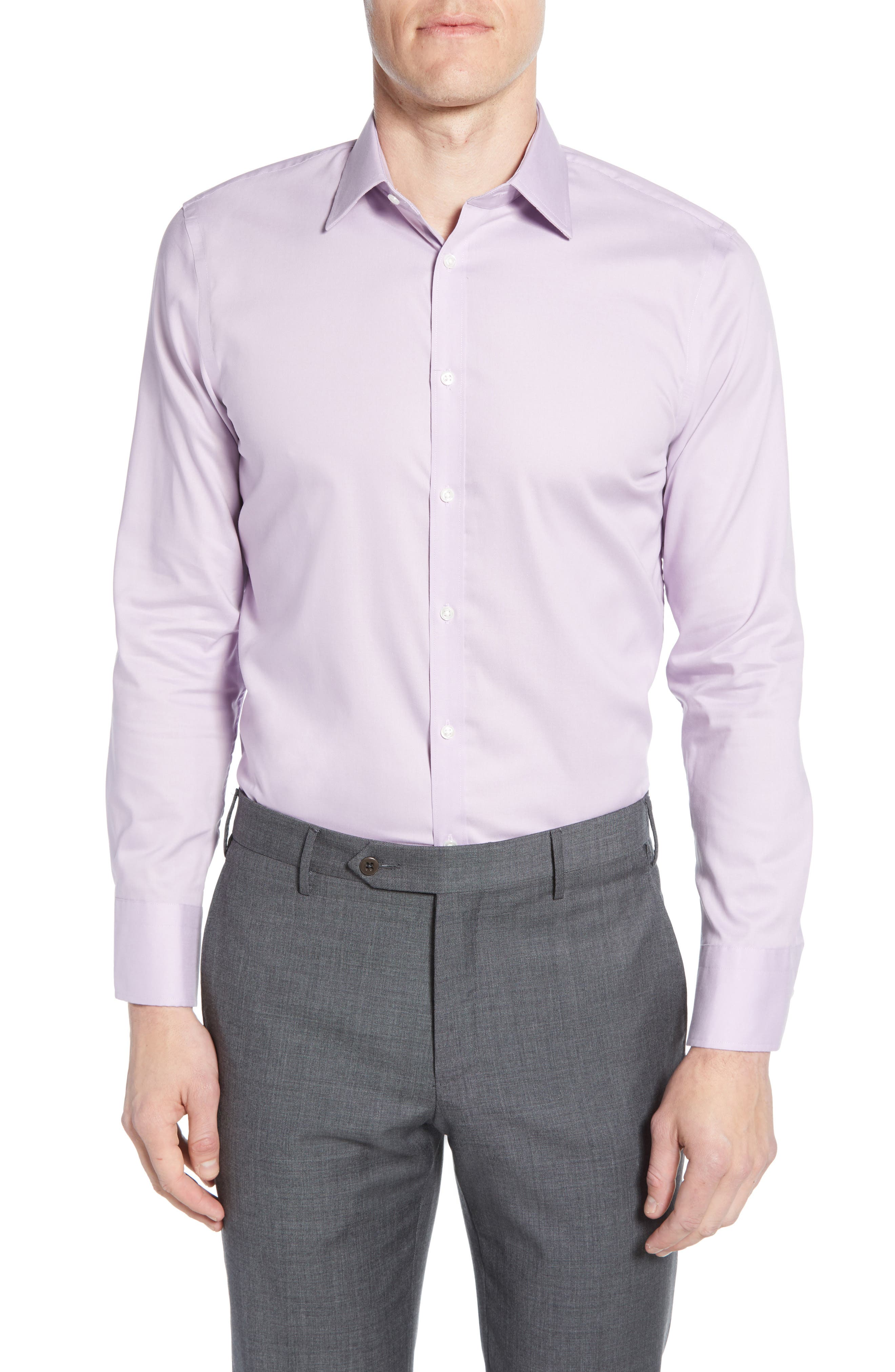 ,                             Extra Trim Fit Non-Iron Solid Dress Shirt,                             Main thumbnail 31, color,                             520
