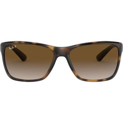 Ray-Ban 61mm Gradient Polarized Square Sunglasses - Havana/ Brown Gradient