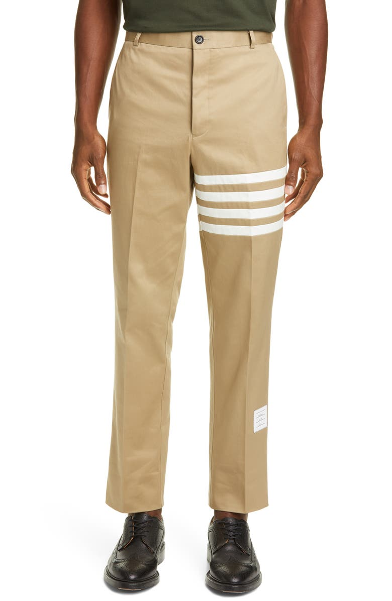 THOM BROWNE Unconstructed Chino Dress Pants, Main, color, CAMEL