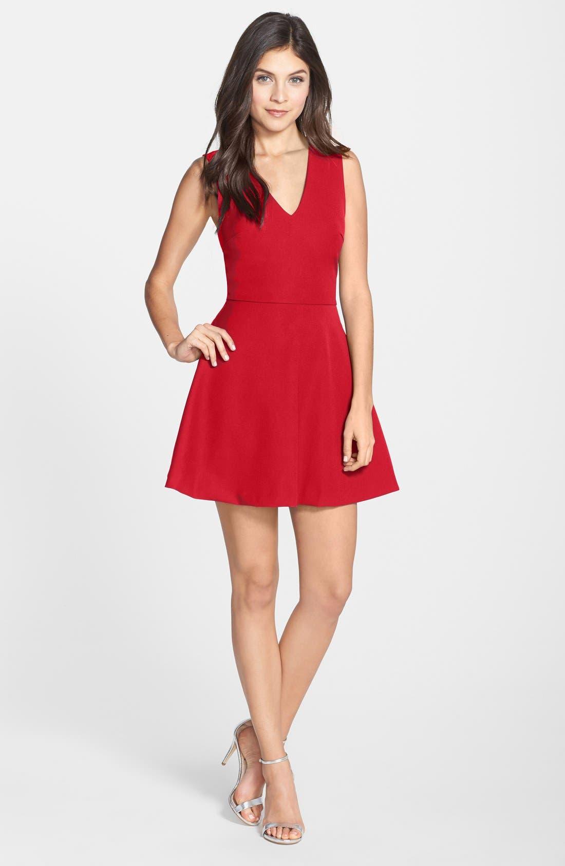 ,                             Bianca Back Cutout Fit & Flare Dress,                             Main thumbnail 63, color,                             600