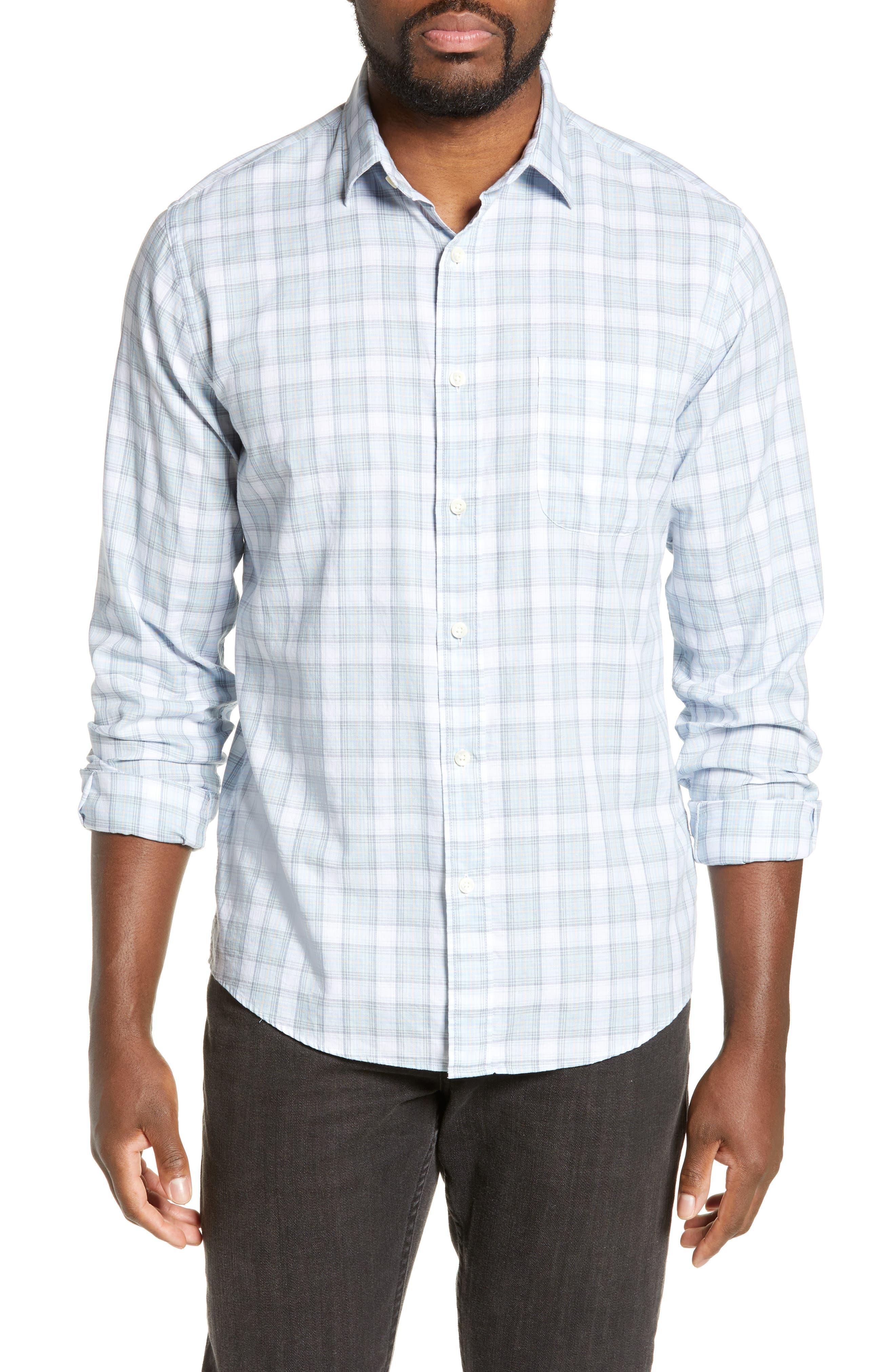 Faherty Ventura Regular Fit Plaid Sport Shirt, Blue