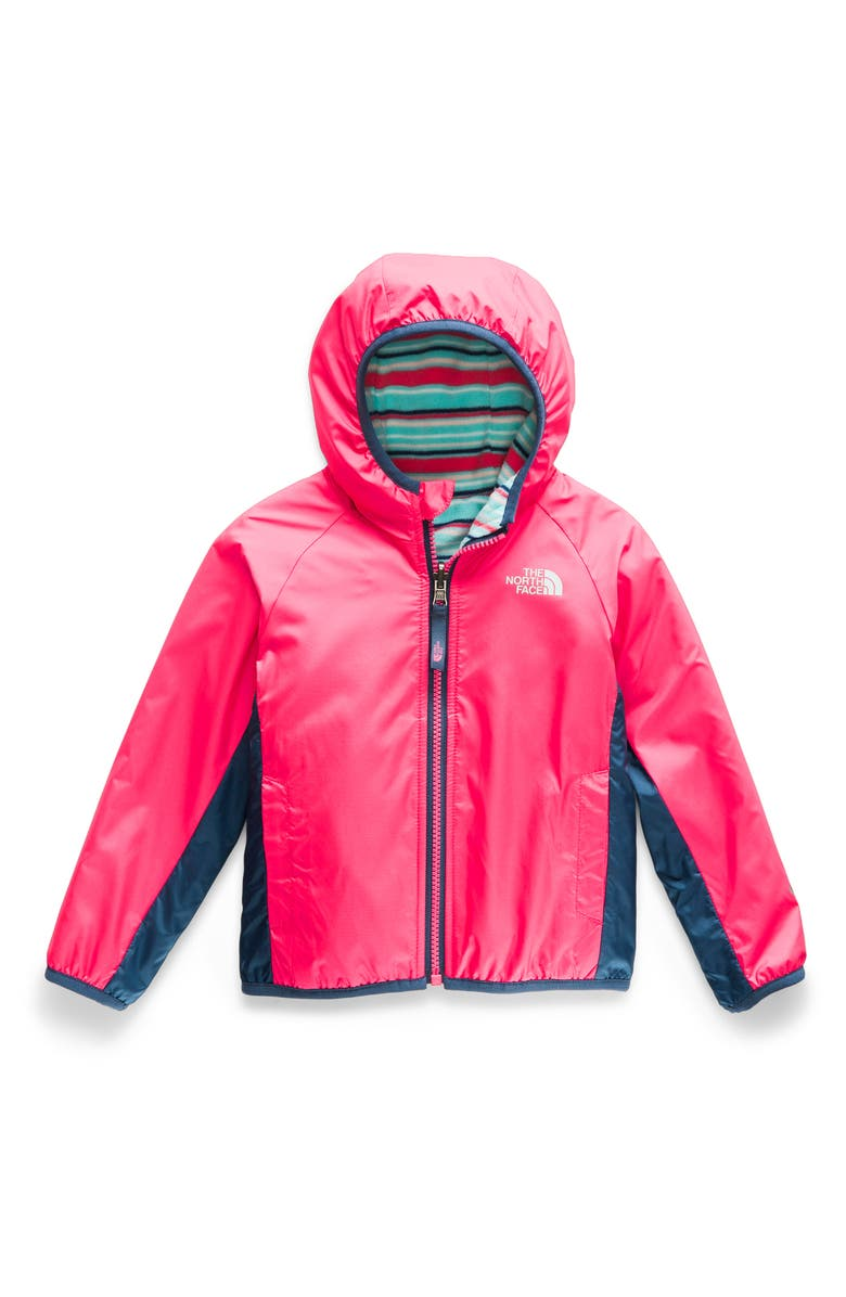 THE NORTH FACE Breezeway Reversible Water Repellent Windproof Jacket, Main, color, ATOMIC PINK