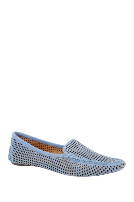Image of Patricia Green Barrie Lasercut Suede Loafer