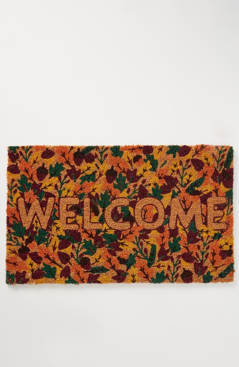 ANTHROPOLOGIE Fall Welcome Doormat, Main, color, TAN