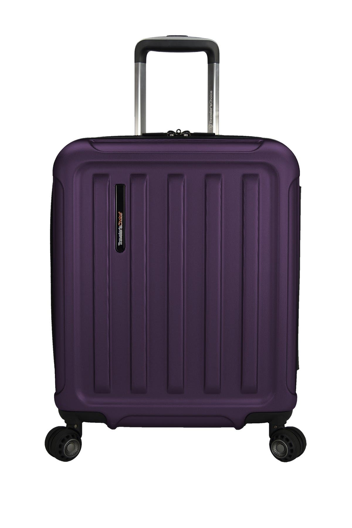 "Image of Traveler's Choice The Art of Travel 20"" Carry-On Expandable Spinner Suitcase"