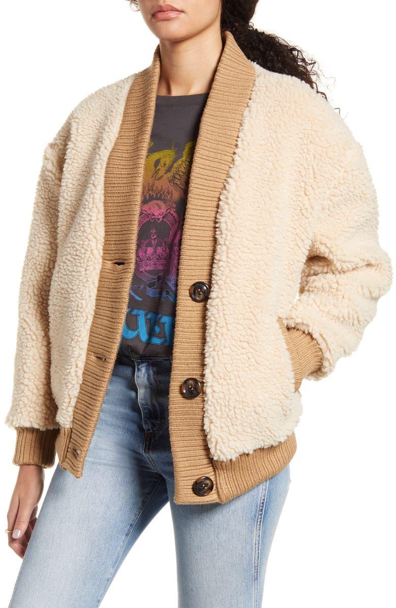 BP. Teddy Cardi Coat, Main, color, TAN LION