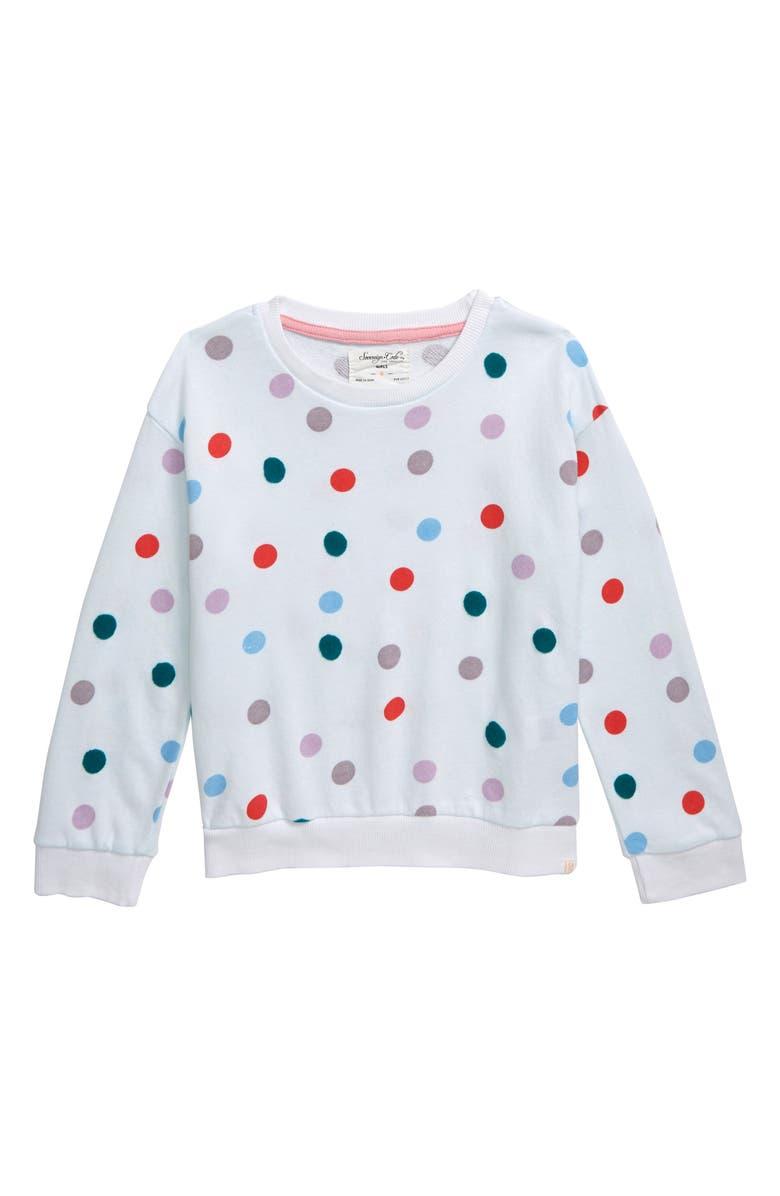 SOVEREIGN CODE Myah Polka Dot Sweatshirt, Main, color, 100