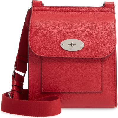 Mulberry Small Antony Leather Crossbody Bag - Red