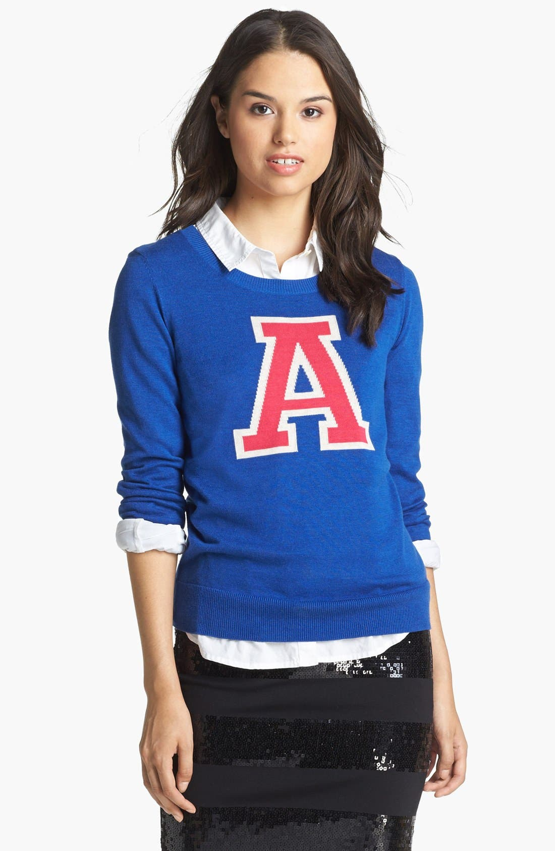 ,                             'Letterman' Sweater,                             Alternate thumbnail 9, color,                             400