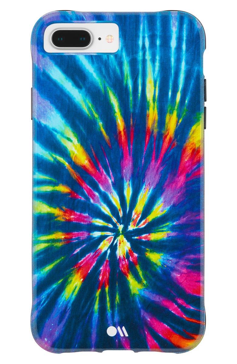 CASE-MATE<SUP>®</SUP> DIY Rainbow Tie Dye iPhone 6/7/8 & 6/7/8 Plus Case, Main, color, MULTI