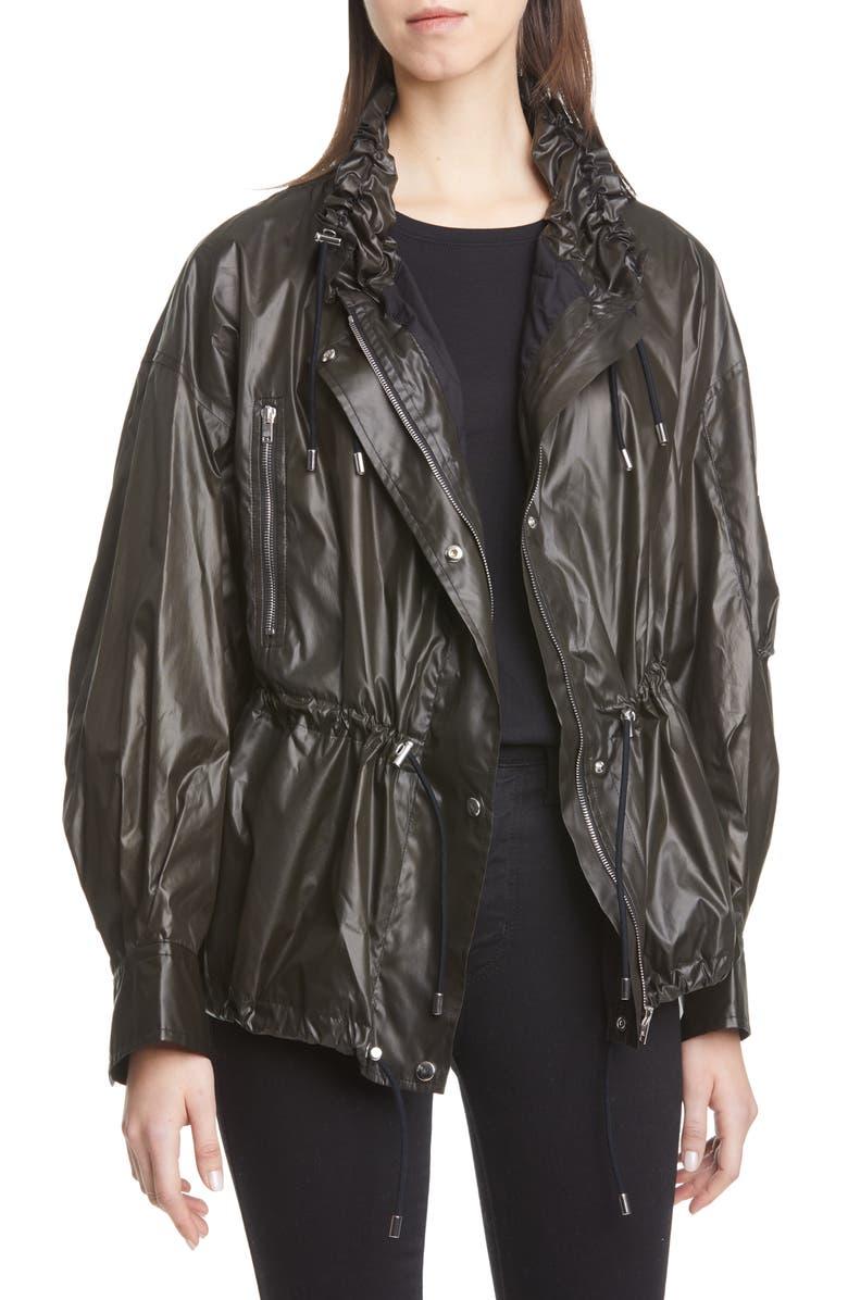 ISABEL MARANT Drawstring Jacket, Main, color, BLACK