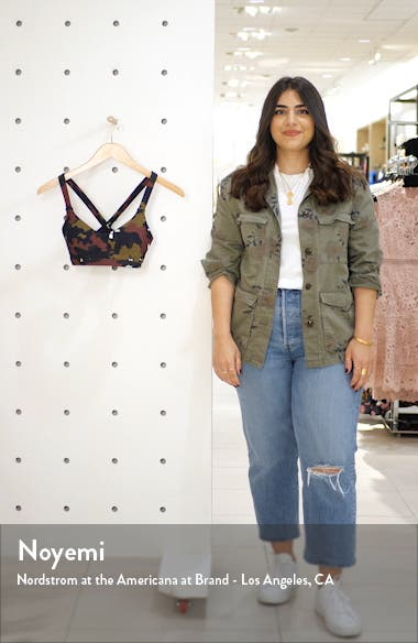 Sophie Jungle Print Cross Back Bra, sales video thumbnail
