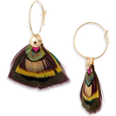 Gas Bijoux Bermude Feather Hoop Earrings