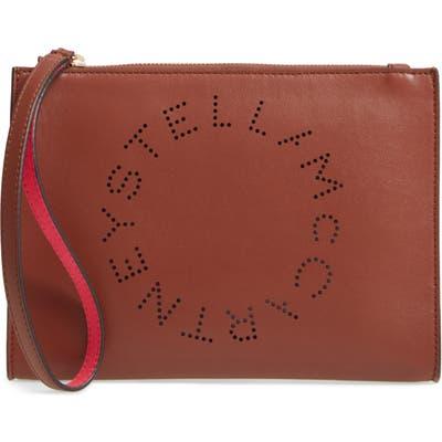 Stella Mccartney Alter Faux Nappa Leather Wristlet Clutch - Brown
