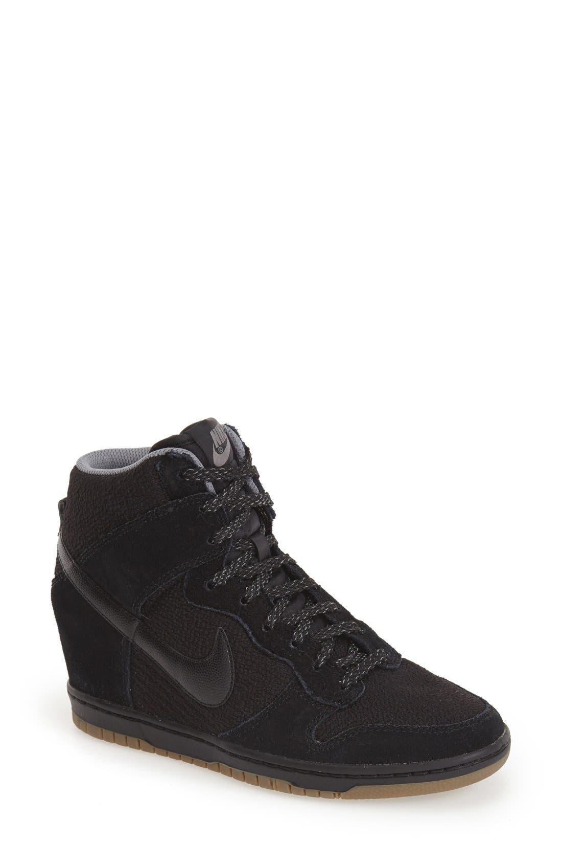 ,                             'Dunk Sky Hi - Essential' Wedge Sneaker,                             Main thumbnail 5, color,                             006